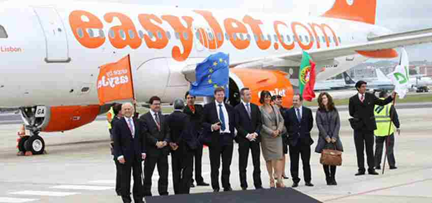 Portugal car hire at Lisbon airport fly by Easyjet from Lisbon